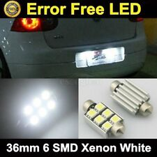 2x Error Free License Plate 5050 LED Light Bulbs DE3425 6418 For Audi 05 Can-bus