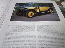 Internationales Automobil Archiv 1 Geschichte 1018  Voisin 1919 FRankreich