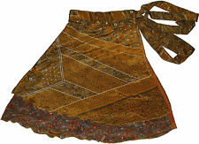 "Magic Wrap Silk Skirt Reversible Style - 5 Pcs Skirts 24"""