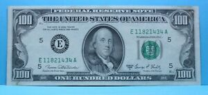 1969C $100 Federal Reserve Note Richmond E A block Crisp FR 2166-E  stk# KSLCBHR