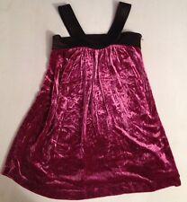 Jean Paul Gaultier Deep rose velours robe de soirée 12 ans RRP £ 129 Maintenant £ 45