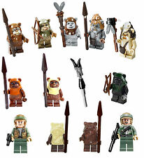 NEW LEGO Star Wars 10236 7956 8038 7139 COMPLETE EWOK SET 12 Minifigures Figures
