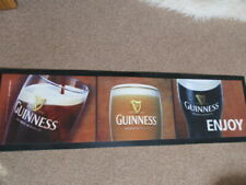Guinness Rubber Backed  Bar Runner Mat  Pub Man Cave Shed Unused