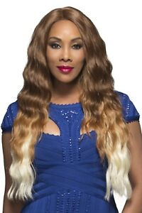 """Vivica Fox Lace Front Wig 27""""Brazilian Loose Body Wave With Skin Part - YUCERA"""