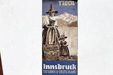 23104 viaggio prospetto Tirolo Austria Innsbruck titolo sign. atelier TYROLIA 1938