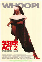 SISTER ACT 2 MOVIE POSTER WHOOPI GOLDBERG Original Advance Style 27x40 One Sheet