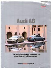 Audi A8 4.2 Quattro First Drive 2002-03 UK Market Foldout Brochure Autocar