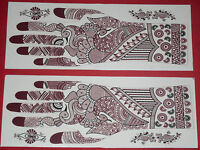 6 Pair Assorted Henna  Stencil for  Temporary Art Tattoo  10 US$