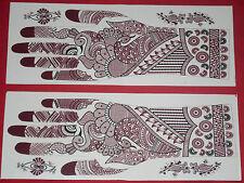 12 Pair Assorted Henna mehndi Stencil for  Temporary Art Tattoo  16 US$