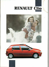 Renault Clio Baccara RT RN RL 1991-92 Original UK Sales Brochure No. 20 045 07