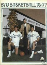 1976-77 BRIGHAM YOUNG COUGARS BASKETBALL PRESS GUIDE