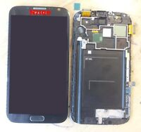 Grey LCD Screen Touch Digitizer Assembly +Frame for Samsung Galaxy Note 2 N7100
