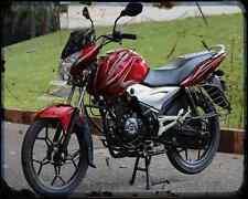 Bajaj Discover 100 14 01 A4 Metal Sign moto antigua añejada De