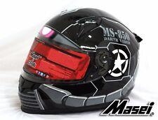 Masei 850 Black Zaku DOT & ECE Full Face Motorcycle Bike Helmet Gundam HJC ARAI