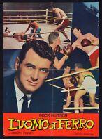 Manifesto L'Uomo Von Eisen Rock Hudson Pevney Boxing Boxen Ring S13