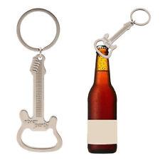 Zinc Alloy Bottle Opener Guitar Keyring Metal Kitchen Bar Beer Novelty Tool Gift