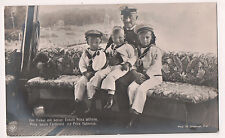 Vintage Postcard Kaiser Wilhelm II of Germany & Grandchildren