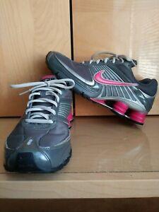 Nike Shox Turbo 8 Gray Pink Silver Women's Running Shoes Size 9 344948-061