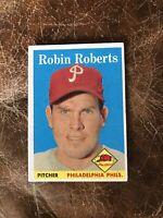 1958 TOPPS #90 ROBIN ROBERTS HOF PHILA PHILLIES— CREASE FREE💥*** (wph)