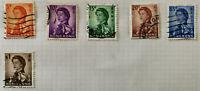 Hong Kong Queen Elizabeth II $1, 65c, 20c, 15c, 10c & 5c Stamps 1962