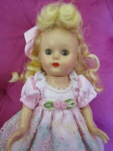 """8"""" Vintage Hard Plastic Girl Doll by Hollywood Dolls 40's 50's"""