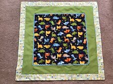 Handmade Boys Dinosaur Blanket Crib Bedding Nursery 100% Cotton 31� X 31�