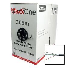 MaxxOne M1C-C5E-305B CAT5E 1000ft 305m Network Ethernet Cable Outdoor CCA Black