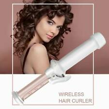 2 in 1 Mini Cordless  Hair Curler Ceramic Curling Wand USB Charging Rechargeable