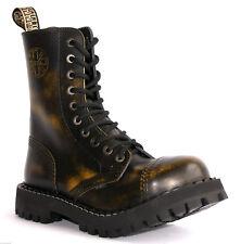 ec1fdd9b1d6580 BOOTS STEEL TOE RANGERS 10 HOLE Yellow Rub Off Gothic Punk Skinhead