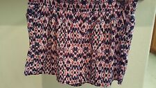 Women's a.n.a. shorts size M purple and pink pattern  NWT