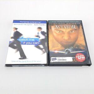 LOT 2 Leonardo DiCaprio DVD MOVIES: Catch Me If You Can + AVIATOR