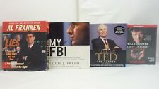 Lot of 4 Nonfiction Political Audio Books by Moore, Franken, Freeh, Turner