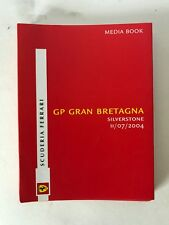 Scuderia Ferrari Press Pass 2004 Silverstone Media livre très rare.