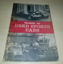 Guide to Used Sports Cars Vol 1 Austin Healey Jaguar MG Morgan Triumph TR2 TR3