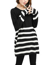 Polyester Tunic Striped Regular Size Jumpers & Cardigans for Women