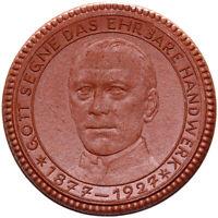 Meissen - Gott Segne das Ehrbare Handwerk - Porzellan-Medaille 1927 - 42,5 mm