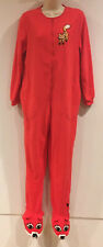 Nick & Nora Adult FOX Fleece Footed Footie Pajamas One Piece Small