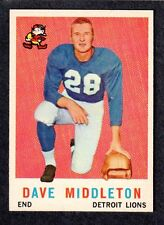 1959 TOPPS FOOTBALL #113  Dave Middleton  Auburn  LIONS  ( Not Rubbed )  NM  A