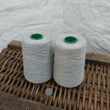 1kg Fine 2/24NM 90% Lambswool Yarn Cones Light Grey Weaving Marl Lovely Quality