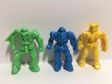 Lot of 3 Vintage Rigo Plastic Robot Figures Retro Mini Figs Futuristic Space Toy