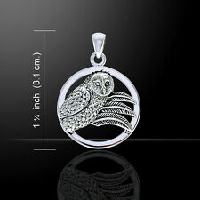 Ted Andrews Owl .925 Sterling Silver Pendant by Peter Stone