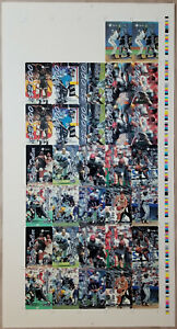 1994-95 Assets Phone Card Uncut Sheet EMMITT SMITH SHAQUILLE O'NEAL BARRY BONDS