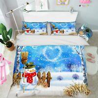 3D Winter Landscape 7 Bed Pillowcases Quilt Duvet Cover Set Single Queen King CA