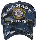 NEW! US NAVY RETIRED USN ROUND CAP HAT DIGITAL NAVY CAMO