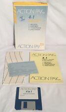 "ACTION PAK Atari ST 3.5"" Floppy Disk Utility Software Boxed W/ Manual CIB"