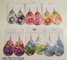 Wholesale lot 6 pcs shell drop/dangle colorful fashion earring ko-1