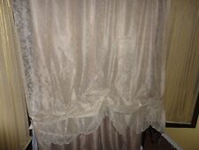 JC PENNEY LACE ANTIQUE LINEN IRENE BALLOON PANEL (VALANCE) CURTAIN 56 X 63