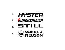 Sticker, aufkleber, decal - HYSTER JUNGHEINRICH STILL WACKER NEUSON 50 70 100 cm