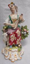 Antique Figure Samson Paris Porcelain Lady Musician Bow Mark Height 16.5 cm