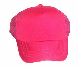 Kid's Toddler Blank Snapback Mesh Trucker Hat Cap Kid Child Children Youth